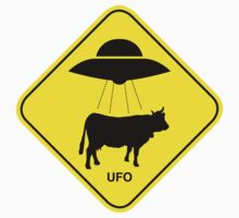 UFO traffic hazard sign One Piece - Short Sleeve