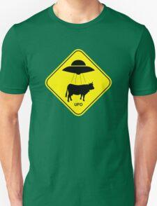 UFO traffic hazard sign Unisex T-Shirt