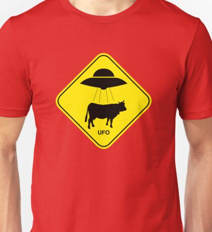 UFO traffic hazard sign Unisex T-Shirt