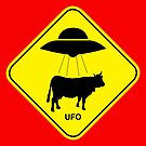 UFO traffic hazard sign by monsterplanet