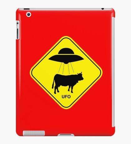 UFO traffic hazard sign iPad Case/Skin