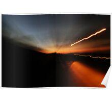Sunset Blur Poster