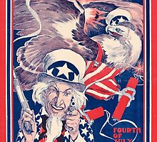 The morning Republican Uncle Sam Poster 1898 Restored by Carsten Reisinger