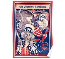 The morning Republican Uncle Sam Poster 1898 Restored Poster