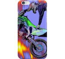 High Flying Freestyle Motocross Rider iPhone Case/Skin
