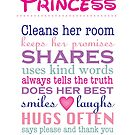 a real princess - family plaque by Lauren Eldridge-Murray