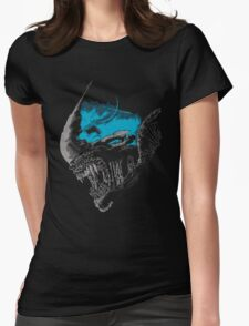 On A Dark Moon. Womens Fitted T-Shirt