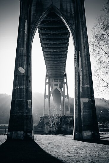 Under St. John's Bridge by comeinalone