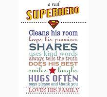 real superhero - family plaque in white Unisex T-Shirt
