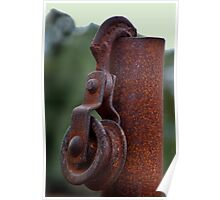 RUSTY HOOK AND PULLEY Poster