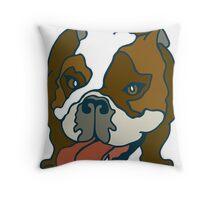 Bulldog Portrait Throw Pillow