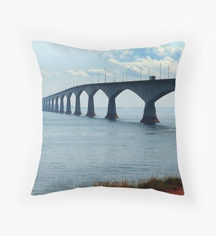 Confederation Bridge Throw Pillow