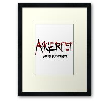 Angerfist Master Of Hardcore Framed Print