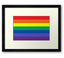 Equal Rights Flag Framed Print