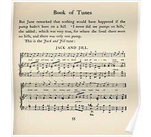 The April Baby's Book of Tunes by Elizabeth art Kate Greenaway 1900 0087 Jack and Jill Poster
