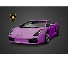 Purple Lamborghini Gallardo 2003 Photographic Print