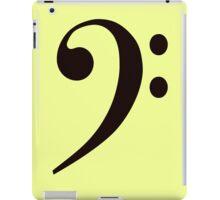Musical Bass Clef Note iPad Case/Skin