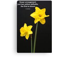 Daffodils Quotation Canvas Print