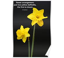 Daffodils Quotation Poster