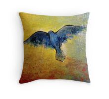 Blue Bird Lit From Within  Throw Pillow