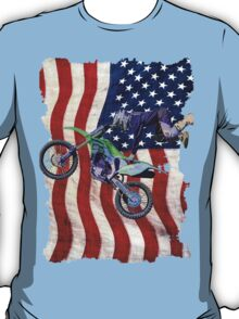 High Flying Freestyle Motocross Rider T-Shirt