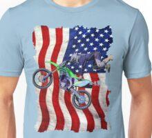 High Flying Freestyle Motocross Rider Unisex T-Shirt