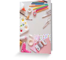 Crafting tools Greeting Card