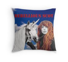 Rebellious Scot Throw Pillow