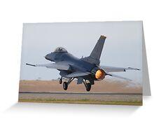 F-16C Greeting Card