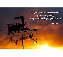 Journey Quotation Photographic Print