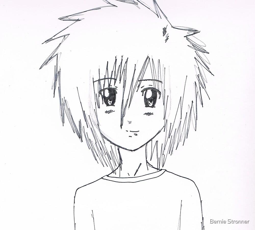 Little kid (anime) by Angel by Bernie Stronner