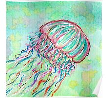 Lonely Jellyfish Poster
