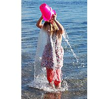 A Water Veil - how to cool off Photographic Print