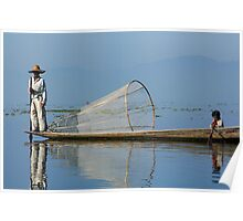 Fisherman Inle Lake (1) Poster