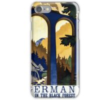 Germany In the Black Forest Vintage Poster Restored iPhone Case/Skin