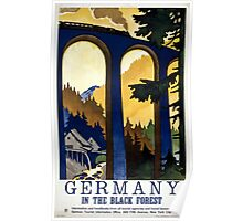 Germany In the Black Forest Vintage Poster Restored Poster