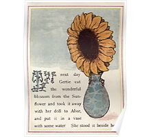 Gertie's Sunflower by George Lambert Mabel 1882 0023 Blossom in Vase Poster