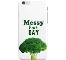 Messy hair day iPhone Case/Skin