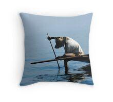 Inle Lake fisherman (4) Throw Pillow