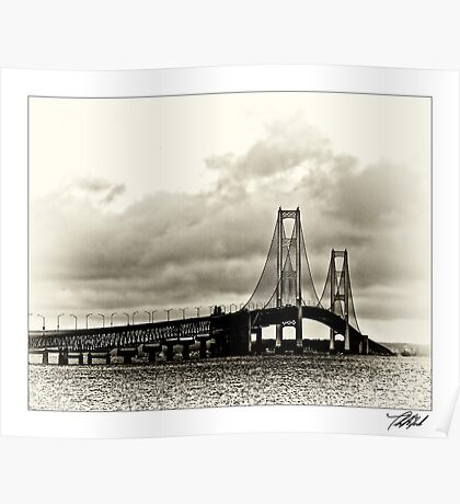 Mackinac Bridge No 0417 Poster