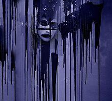 Night behind black curtain by Bluesrose
