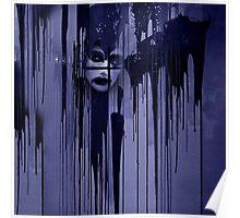 Night behind black curtain Poster