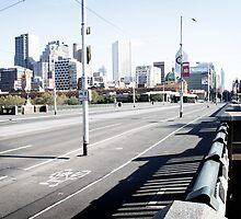 Deserted Princess Bridge, Melbourne, Australia by Marcos Moraes