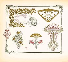 Maurice Verneuil Georges Auriol Alphonse Mucha Art Deco Nouveau Patterns Combinaisons Ornementalis 0050 by wetdryvac