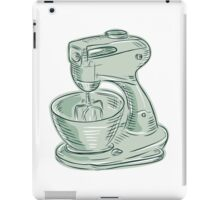Kitchen Mixer Vintage Etching iPad Case/Skin