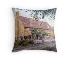 Cotswold Cottage, Buckland, Gloucestershire Throw Pillow