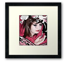 The Drowning Girl Appropriation Framed Print