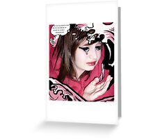The Drowning Girl Appropriation Greeting Card