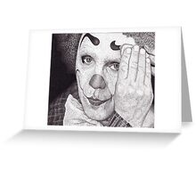 Clown, Ink Drawing Greeting Card