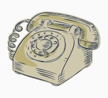 Telephone Vintage Etching by patrimonio